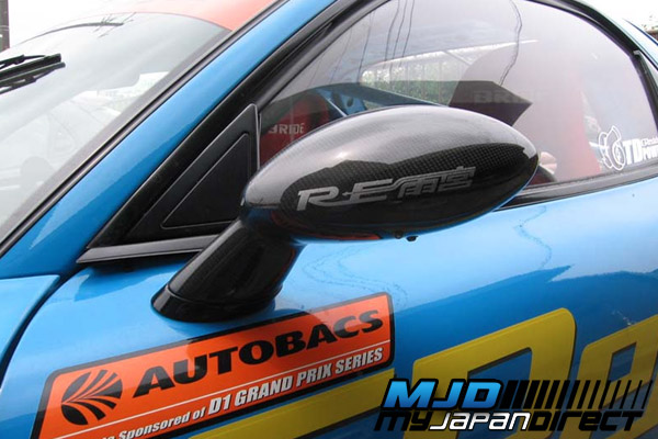 RE Amemiya Super Door Mirror (Carbon) for Mazda RX-7 (FD3S)