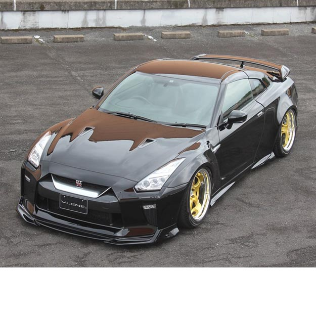 Vlene full wide body kit frp for nissan gt r r35 for Nissan gtr bodykit