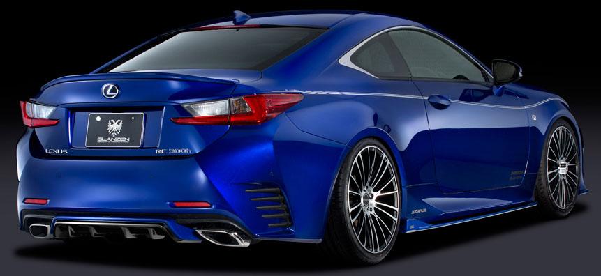 Silk Blaze Glanzen 3p Aero Set Frp For Lexus Rc F Sport